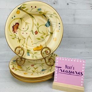 """Home American Simplicity FLORAL Round 9"""" Plates"""